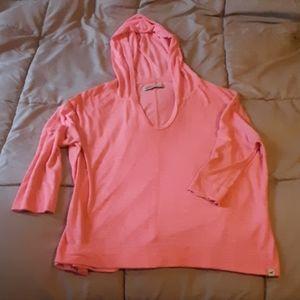 Pink Hollister hoodie short sleeves